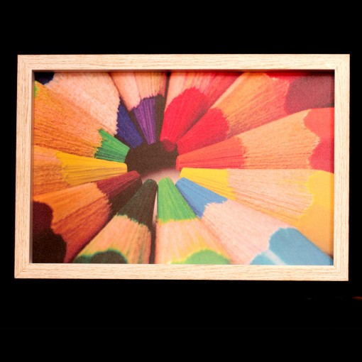 Handmade Tray With Pencil Color Design