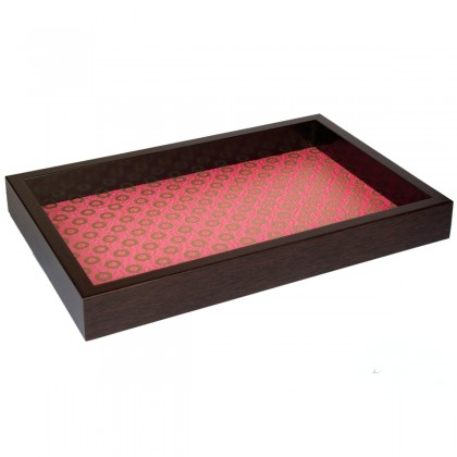 Handmade pink Golden Ring serving tray