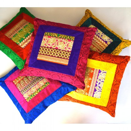 Multicolored Rajwara Cushion covers set